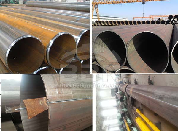 2100 tons LSAW pipes for waste Water treatment project in Austria
