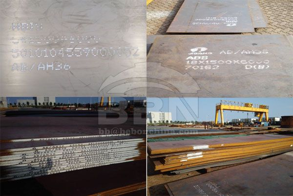 Export 412 tons ABS-AH36 shipbuilding steel plate to Myanmar in 2015