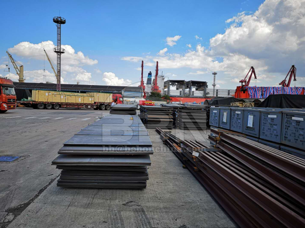 1051.6 Tons ASTM A36 Steel Plates to Jordan