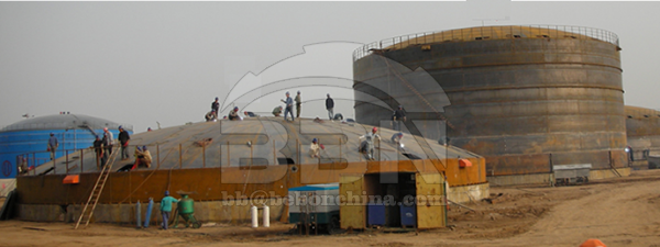 2650 tons A537CL1 Steel Plates for Egypt ECHEM Petrochemical tank project
