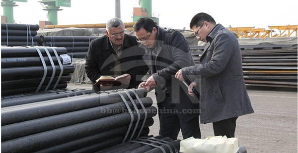 2698 tons DIN 17175 ST35.8 steel pipe to Iraq WASSIT critical fuel oil power plant project