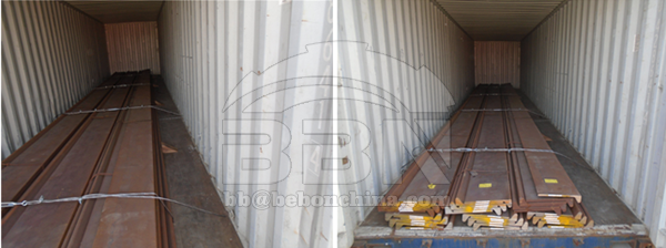 4500 tons shipbuilding material Bulb flat and angle bar from Colombo Dockyard PLC in 2012.