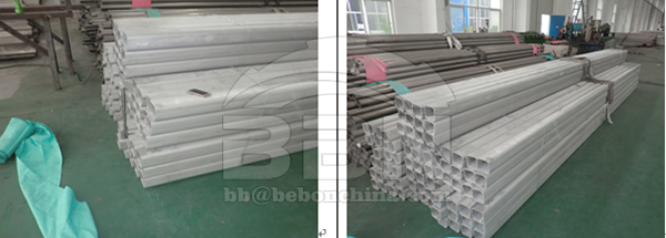 900 tons SUS304 stainless steel square pipe to India