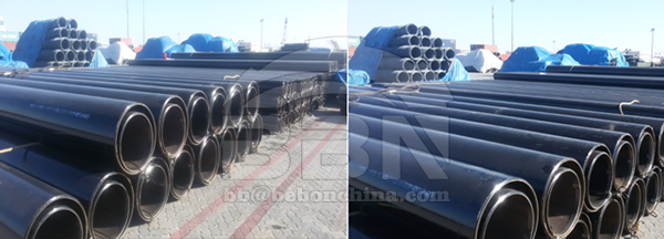Q345B ERW steel pipe to India