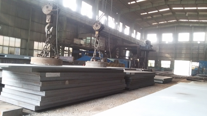 The rolling process of ASME SA572 Gr.50 steel