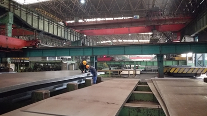 ASTM A633 Gr.E steel plates are applied in large marine structures