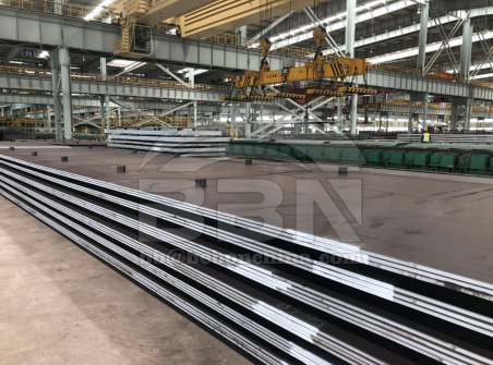 High strength low alloy A572 grade 50 Nb-V structural steel plate