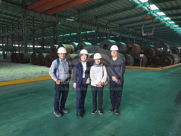 Indonesia customer about 09CuPCrNi-A steel plate and coils