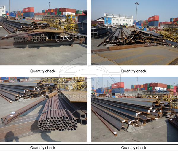 SGS Inspection Report of angle steel, channel steel, steel pipe and so on steel products