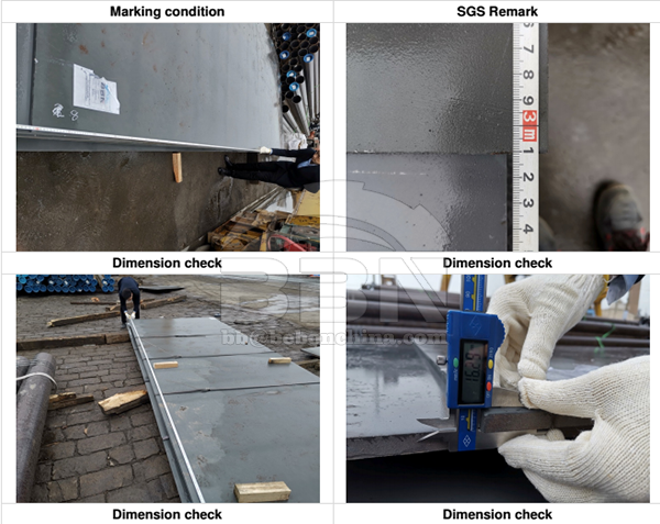 SGS Inspection Report of angle steel, steel plate, flat bars