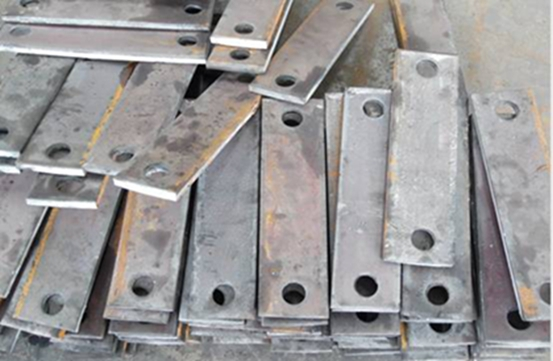 1620 tons Bridge embedded drilling steel plate to Denmark