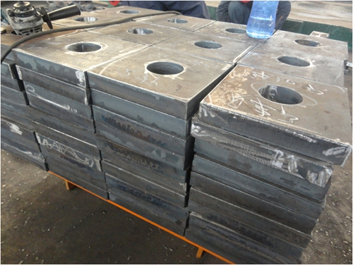 390 tons ASTM A36 cutting plates export to Singapor