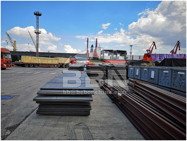 More than 1500MT LR AH36 Steel Plates will ship to Singapore