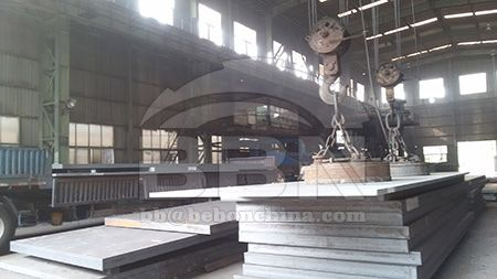 Carbon equivalent value CEV of quenched and tempered EN 10025 S690QL high strength steel plate