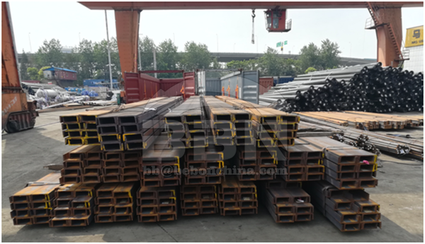 About 320MT S235JR channel steel pass the inspect and will ship to abroad